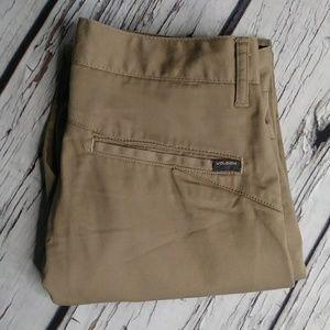 Volcom Straight Leg Corpo Class Khakis Size 28